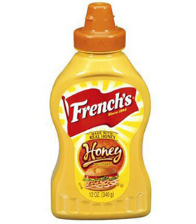 French's yellow mustard miel