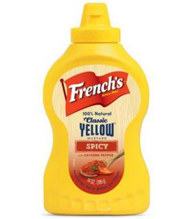 French's yellow mustard épicée
