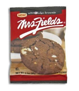 MRS FIELDS COOKIES BROWNIE CHOCOLAT BLANC